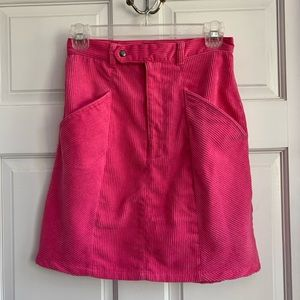 NWT 🎀 hot pink corduroy mini skirt